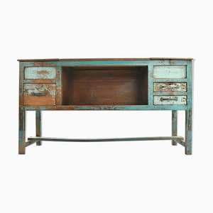 Patinated Wooden Sideboard, 1940s