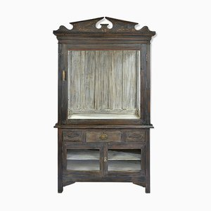 Wooden Display Cabinet, 1940s