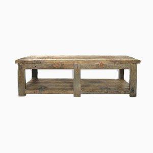Tavolo da pranzo in legno patinato, anni '40