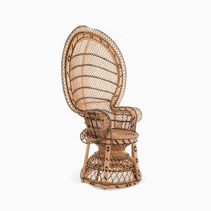 Emmanuelle Wicker Armchair, 1970s