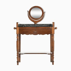 Wood and Marble Dressing Table, 1940s