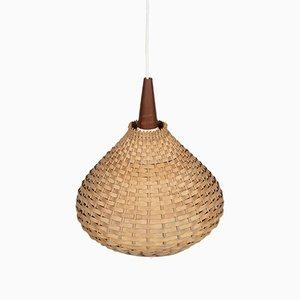 Danish Rattan Pendant Lamp, 1960s