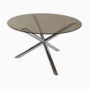 Chrome Dining Table from Roche Bobois, 1970s