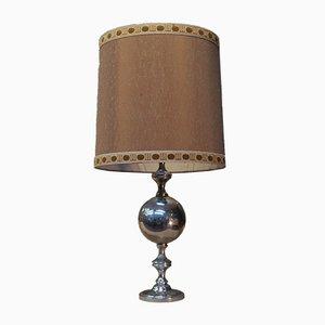 Tischlampe aus verchromtem Metall, 1970er