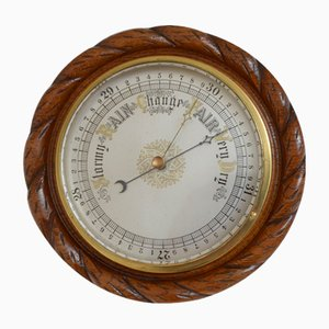 Antique Victorian Aneroid Barometer