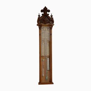 Antique Victorian Oak Admiral Fitzroy Barometer