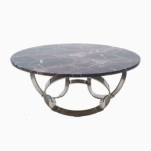 Chrome & Marble Coffee Table, 1960s
