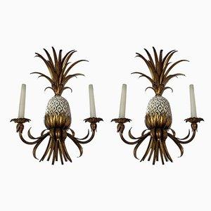 Applique Mid-Century a forma di ananas, Italia, anni '50