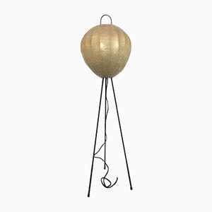 Dreibeinige Cocoon Stehlampe, 1960er