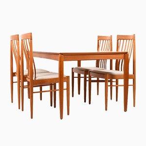 Sillas de comedor y mesa de Henry Klein para Bramin, años 60
