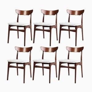 Esszimmerstühle aus Teak von Schiønning & Elgaard, 1960er, 6er Set