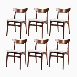 Teak Dining Chairs by Schiønning & Elgaard, 1960s, Set of 6
