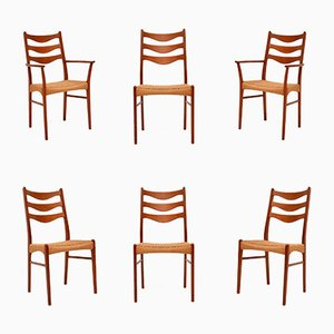 Danish Teak Dining Chairs by Arne Wahl Iversen for Glyngore Stolefabrik, 1960s, Set of 6