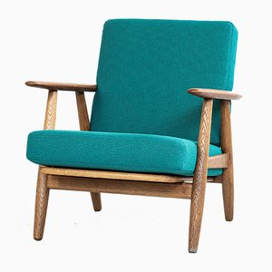 Oak & Teak Armchair by Hans J. Wegner for Getama, 1950s