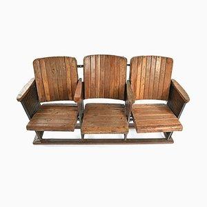 Kinobank aus Holz, 1940er