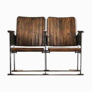 Sillas de cine de madera, años 40