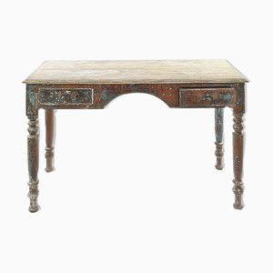 Patinated Wooden Desk, 1940s