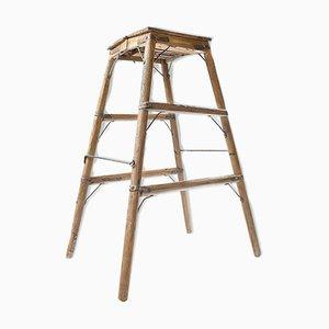 Wooden Step Ladder, 1940s