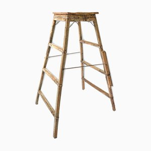 Wooden Step Ladder, 1940s