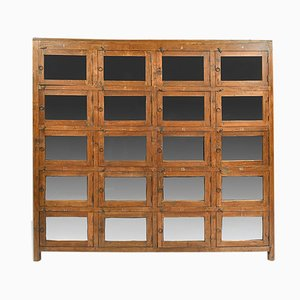 Wood and Glass Cabinet, 1940s