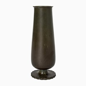 Patinated Bronze Vase from GAB, 1930s