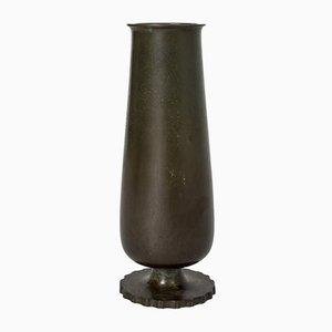 Vase aus patinierter Bronze von GAB, 1930er
