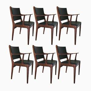Esszimmerstühle aus Palisander von Johannes Andersen für Uldum Møbelfabrik, 1960er, 6er Set