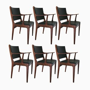 Rosewood Dining Chairs by Johannes Andersen for Uldum Møbelfabrik, 1960s, Set of 6