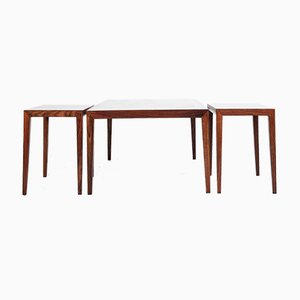 Rosewood Coffee Tables by Severin Hansen for Haslev Møbelsnedkeri, 1960s, Set of 3