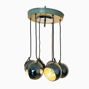 Vintage Steel Ceiling Lamp by Goffredo Reggiani, 1970s