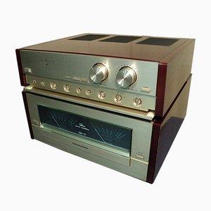 Amplificador de potencia SM 11 y preamplificador SC 11 Componentes HiFi de gama alta de Marantz, 1988. Juego de 2