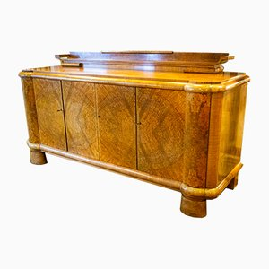 Art Deco Rosewood & Marble Sideboard, 1930s