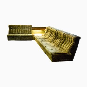 Velvet Modular Sofa, 1960s