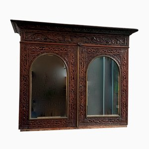 Antique Indian Rosewood Bookcase or Display Cabinet
