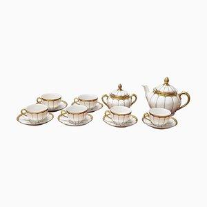 Juego de té de porcelana de Schaller, años 40. Juego de 5