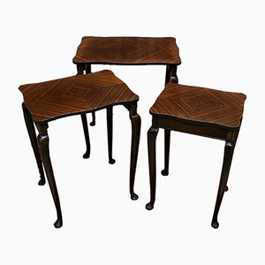 Tavolini ad incastro in mogano, anni '70