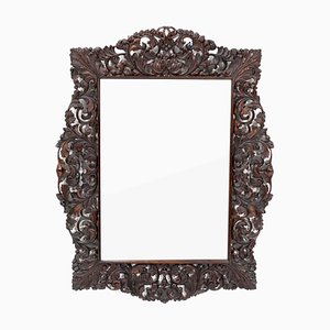 Niederländischer Spiegel mit geschnitztem Rahmen, 1930er