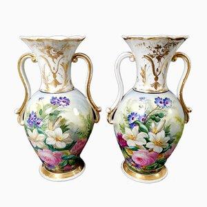 Vasi in porcellana di Porcelains de Paris, 1854, set di 2