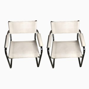 Iron & Leather Lounge Chairs by Marcel Breuer, 1970s, Set of 2