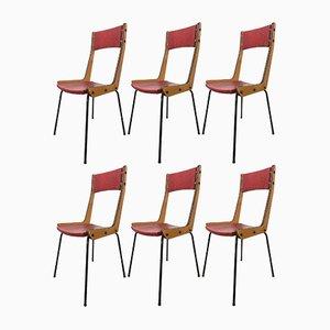 Chaises de Salle à Manger par Carlo Ratti, 1950s, Set de 6