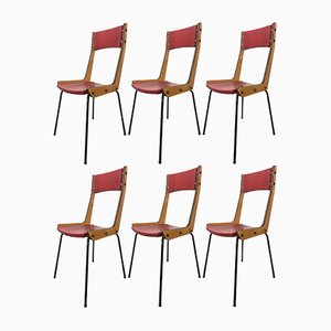 Dining Chairs by Carlo Ratti, 1950s, Set of 6