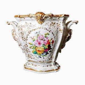 Antique Hand-Painted Pot from Porcelains de Paris