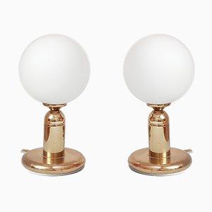 Golden Table Lamps from Sijaj Hrastnik, 1970s, Set of 2