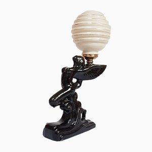 Porcelain Statue Table Lamp, 1950s