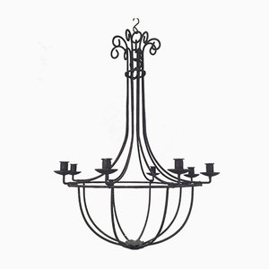 Wrought Iron Chandelier, 1970s