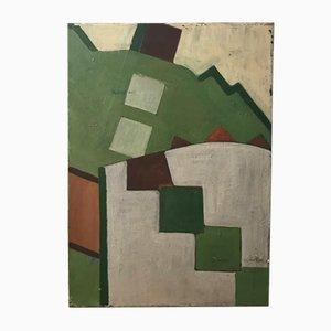 Óleo sobre lienzo de Nelle, años 70