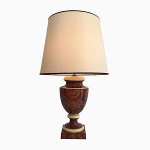 Lámpara de mesa de madera lacada, años 70