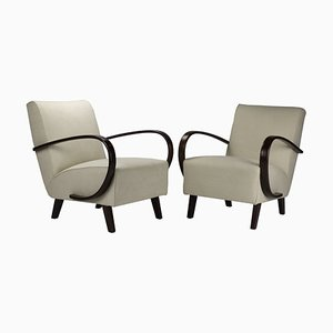No.2 Armchairs by Jindřich Halabala for UP Závody, 1930s, Set of 2