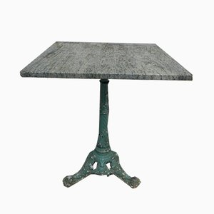 Antique Cast Iron and Marble Garden Table