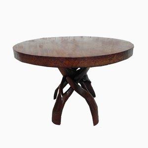 Mesa de centro africana de madera dura, años 50